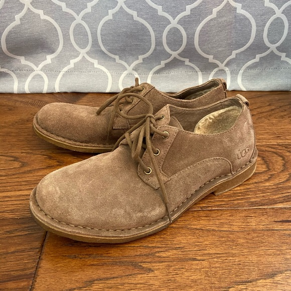 UGG Other - UGG | Men's Tan Suede Oxford Loafers size 8.5